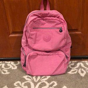 Large Pink Kipling Backpack